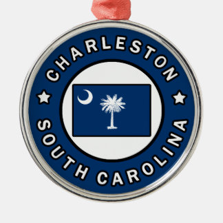 Charleston South Carolina Metal Ornament