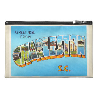 Charleston South Carolina SC Old Vintage Postcard- Travel Accessory Bag