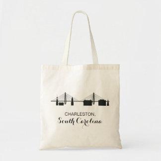 Charleston South Carolina Skyline Tote Bag