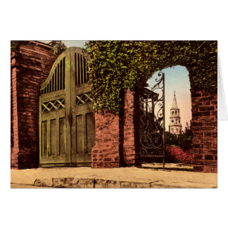 Charleston South Carolina Tradd Street Spire Card