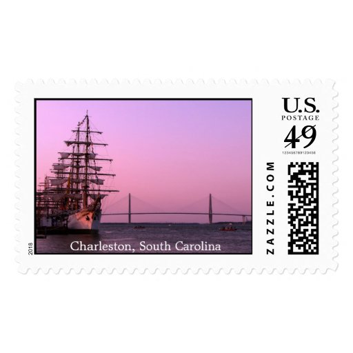 Charleston Tall Ships and Bridge Stamps
