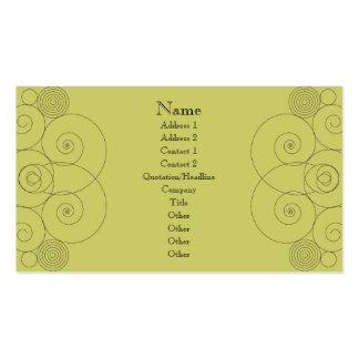 Charleston - verde amarillo silenciado tarjetas de visita