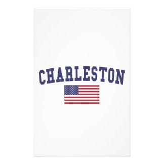 Charleston WV US Flag Stationery