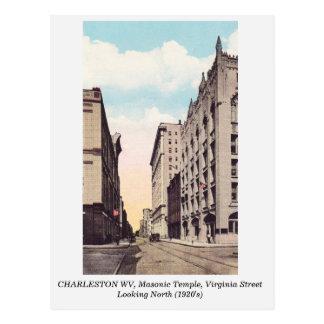Charleston WV, Virginia Street 1920s postcard