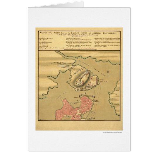 Charlestown Battle Map - 1775 Card