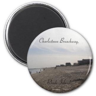 Charlestown Breachway, Rhode Island Refrigerator Magnet