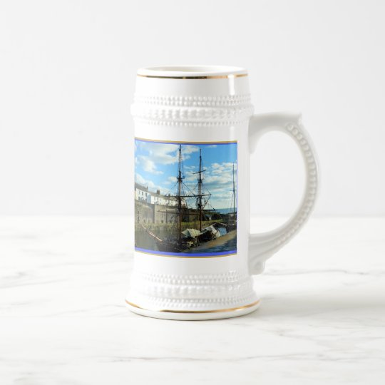Charlestown Cornwall England Poldark Location Beer Stein