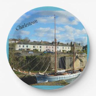 Charlestown Cornwall England Poldark Location Paper Plate