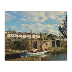 Charlestown Cornwall England Wood Prints