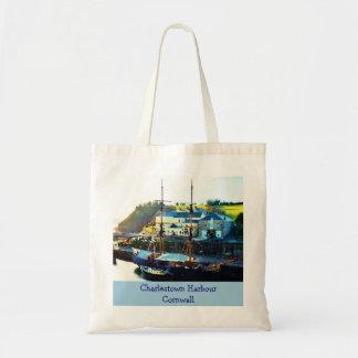 Charlestown Harbour Cornwall England Bag