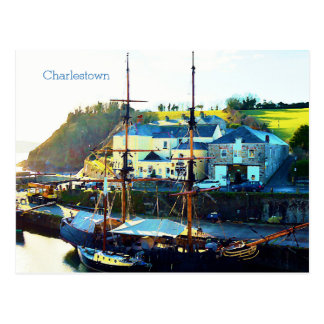 Charlestown Harbour Cornwall England Postcard