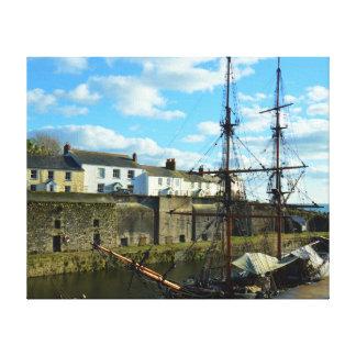 Charlestown Harbour Cornwall UK Poldark Location Canvas Print