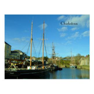 Charlestown Harbour Cornwall UK Poldark Location Post Cards