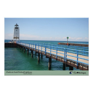 Charlevoix Lighthouse - Charlevoix, Michigan Poster