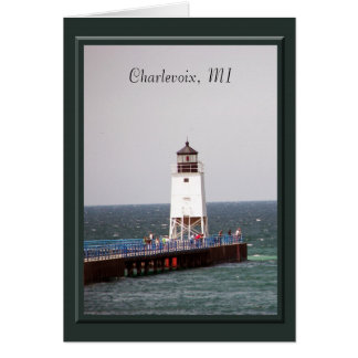 Charlevoix Lighthouse Greeting Card