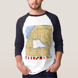 Charlevoix, MI Round Lake Nautical... - Customized T Shirt