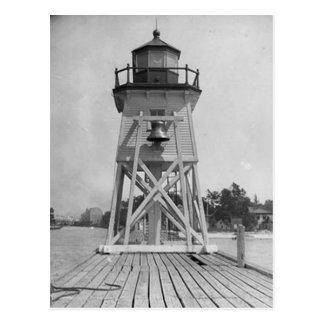 Charlevoix South Pier Light Station Postcard