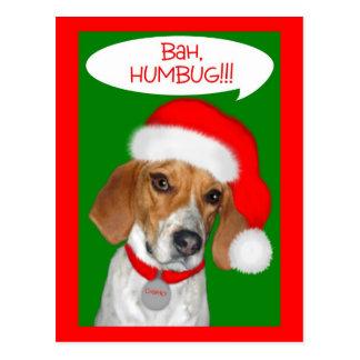 Charley Dog Series Bah Humbug Clothing and Gifts Postcard