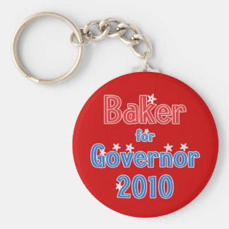 Charlie Baker for Governor 2010 Star Design Keychain