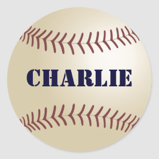 Charlie Baseball Sticker / Seal