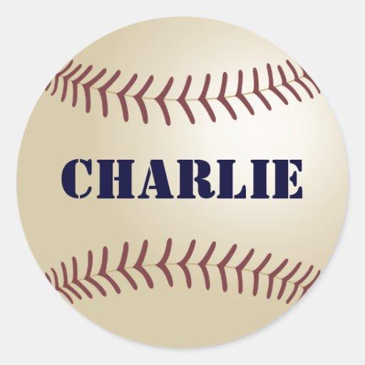 Charlie Baseball Sticker / Seal