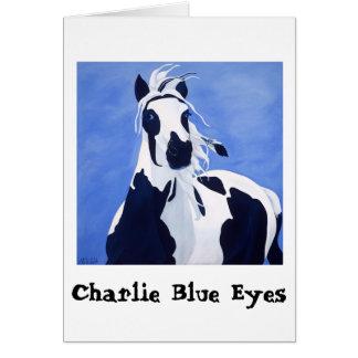 Charlie Blue Eyes greeting card