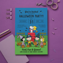 Charlie Brown and Gang Halloween Party Invitation