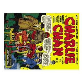 CHARLIE CHAN Cool Vintage Comic Book Cover Art Postcard