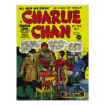 CHARLIE CHAN Cool Vintage Comic Book Cover Art Poster