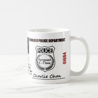 Charlie Chan Police ID Classic White Coffee Mug
