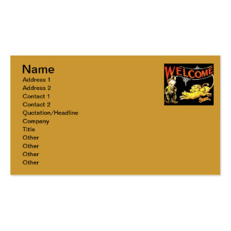 Charlie Chaplin Welcome Business Card