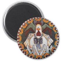 Charlie Cluckleworth Rooster Magnet