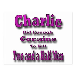 Charlie Cocaine and Two and a Half Men Postcard