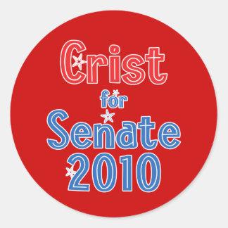 Charlie Crist for Senate 2010 Star Design Round Stickers