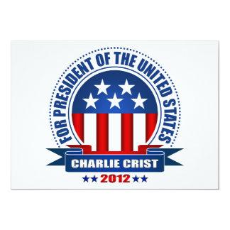 """Charlie Crist Invitación 5"""" X 7"""""""