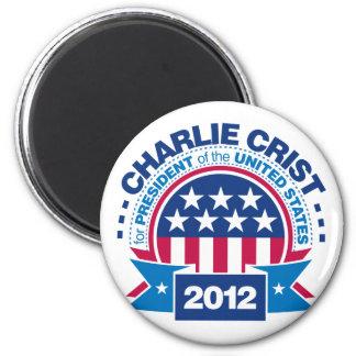Charlie Crist para el presidente 2012 Imán Redondo 5 Cm