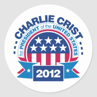 Charlie Crist para el presidente 2012 Pegatina Redonda