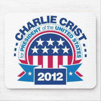 Charlie Crist para el presidente 2012 Alfombrillas De Raton