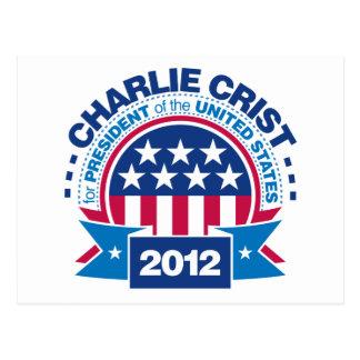 Charlie Crist para el presidente 2012 Tarjeta Postal