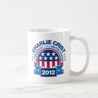 Charlie Crist para el presidente 2012 Taza Básica Blanca
