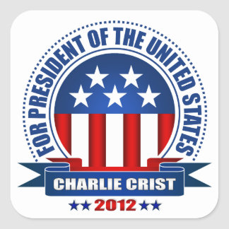 Charlie Crist Pegatina Cuadrada