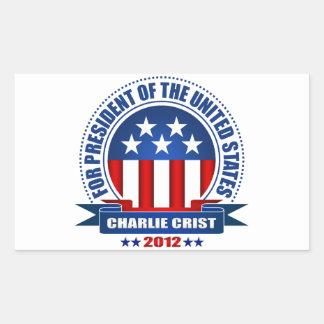 Charlie Crist Pegatina Rectangular