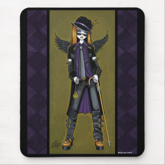 Charlie Hipster Steampunk Angel Mousepad
