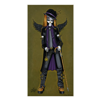 Charlie Hipster Steampunk Angel Poster