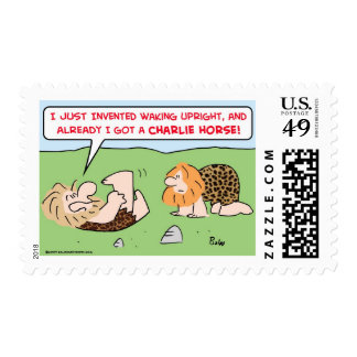 charlie horse caveman postage