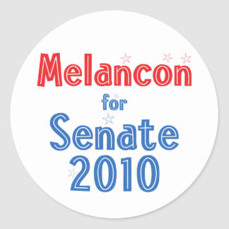 Charlie Melancon for Senate 2010 Star Design Classic Round Sticker