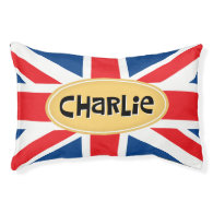 Charlie Personalized British Small Dog Bed