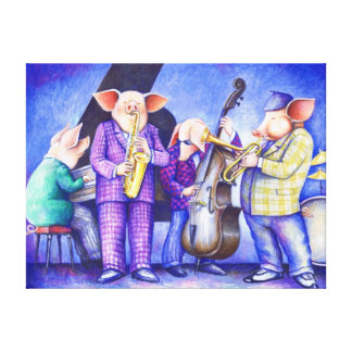 Charlie Porker and the All Sties Jazz Print Canvas Print