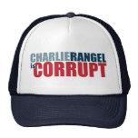 Charlie Rangel es corrupto Gorras De Camionero