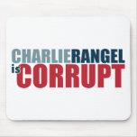 Charlie Rangel es corrupto Tapetes De Ratón